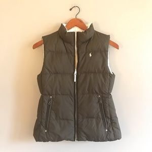 Ralph Lauren Girls reversible vest L 12/14